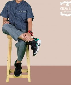SAMASE 1567-02 KIDS SET NAVY GARIS PUTIH
