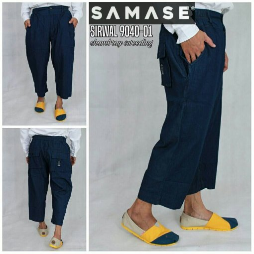 SAMASE 9040-01 CELANA SIRWAL PJG NAVY POLOS HIGH QUALITY MATERIALS