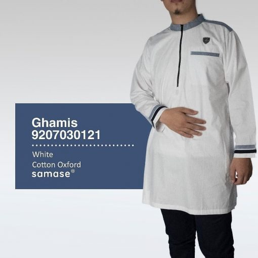 SAMASE 9207-03 GHAMIS PJG PUTIH LIST ABU HITAM
