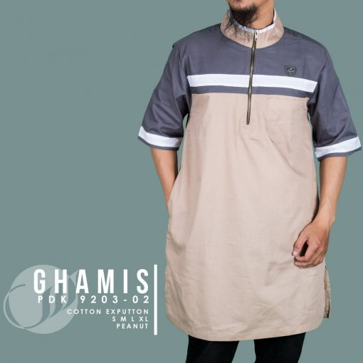 SAMASE 9203-02 GHAMIS PDK CREAM LIST BIRU PUTIH