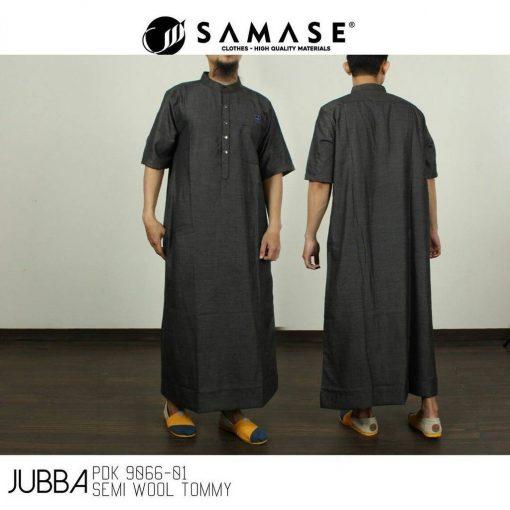 SAMASE 9066-01 JUBAH PREMIUM TITIK HITAM PUTIH PDK