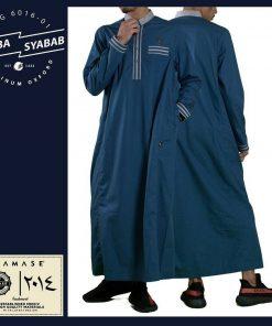 SAMASE 6016-01 JUBAH SYABAB BIRU LIST ABU