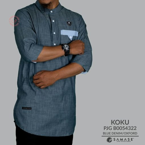 Koko Kurta Blue Denim samase
