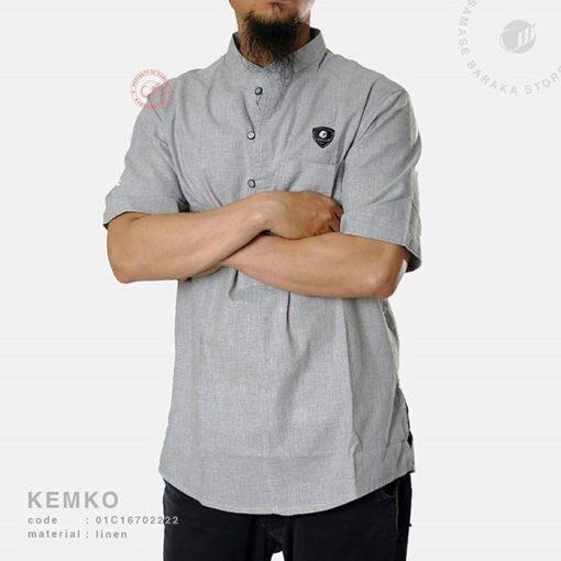 Samase Kemeja Koko Light Grey