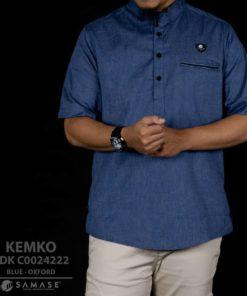 Kemeja Koko Blue