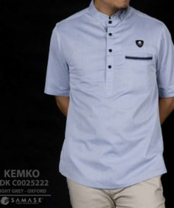 Kemeja Koko Light Grey