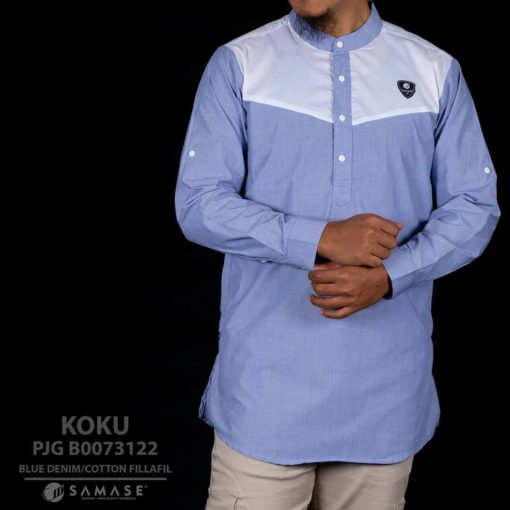 koko kurta blue denim