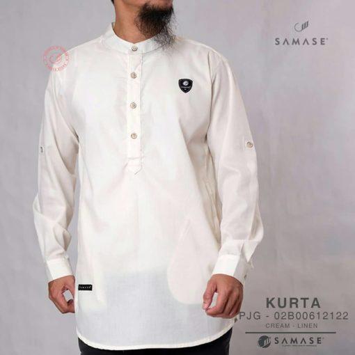 Koko Kurta Cream Linen