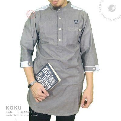 Samase Koko Kurta 3/4 black combi cvc yarnded - 03b00311321