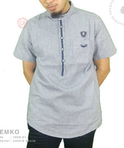 Samase Kemko Pendek Blue Denim