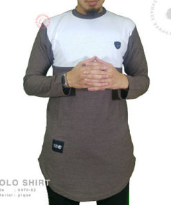 Samase Polo Shirt Panjang Brown Pique
