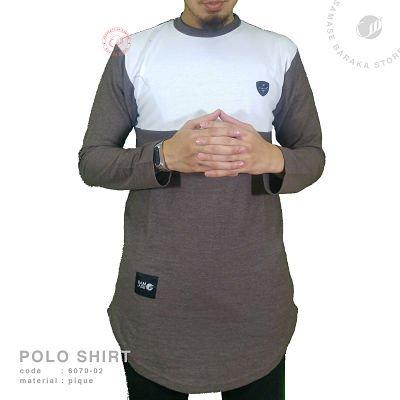 Samase Polo Shirt Panjang Brown Pique