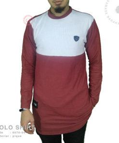 Samase Polo Shirt Panjang Maroon