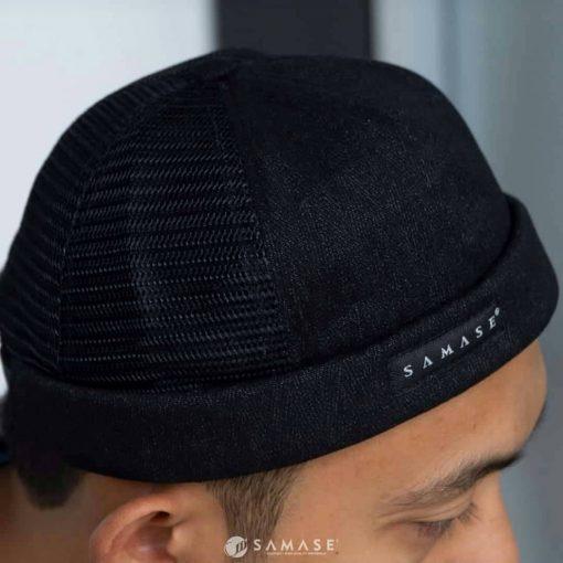 Samase Peci Cap Black
