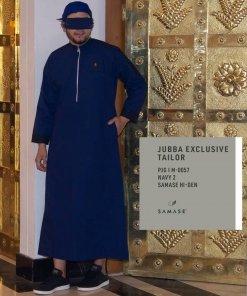 Jubba Exclusive Panjangx M0057 Navy 2