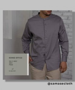 Kemko Office Exclusive V0072 Bahan Pique Warna Grey