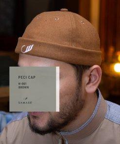 Peci Cap Miki Hat N001 Brown