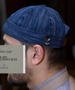Peci Cap Miki Hat N001 Stripes Blue