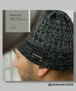 Beenie Hat Black Dark Misty