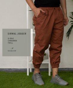 sirwal Jogger d0342 cinnamon twill
