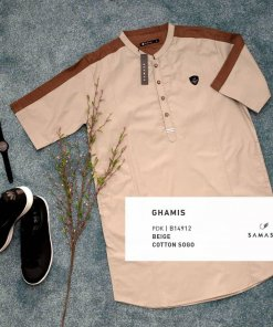 ghamis-gamis-pendek-b14912-beige-cotton-sogo
