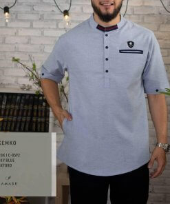 kemko-pendek-c0592-sky-blue-oxford