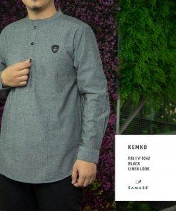 kemko-v0342-black-linen-look