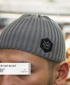 new-cap-rajut-t0171-grey