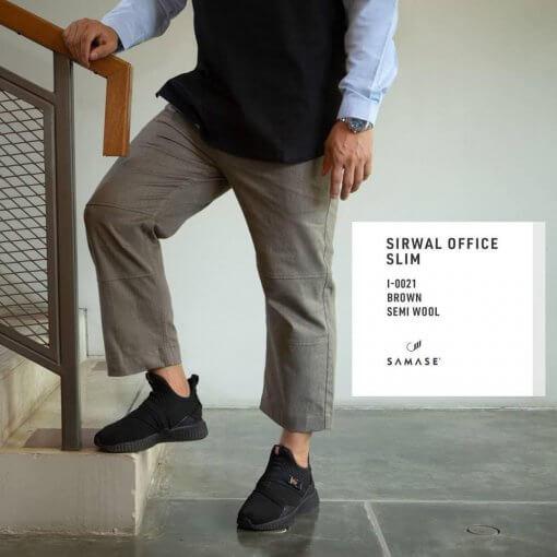 sirwal-office-slim-i0021-dark-brown-semi-wool